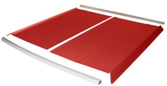 Flat Top 2-pc Alum Roof Kit - (Red / White Cap)