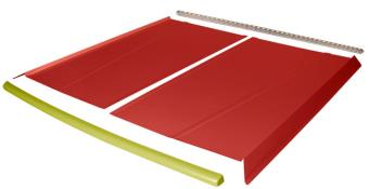 Flat Top 2-pc Alum Roof Kit - (Red / Yellow Cap)