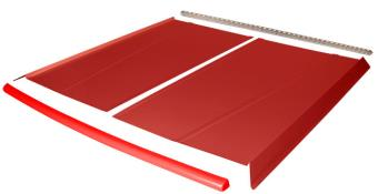 Flat Top 2-pc Alum Roof Kit - (Red / Flo Red Cap)