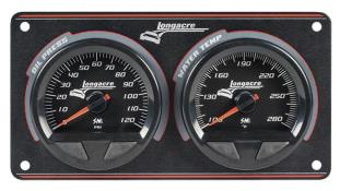 Longacre Waterproof SMI 2 Gauge Panel - (OP/WT)