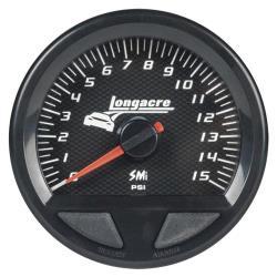 Longacre Waterproof SMI Fuel Pressure Gauge - (0-15 PSI)