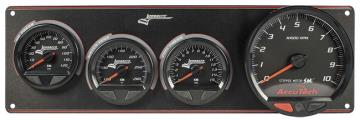 "Longacre Waterproof Gauge Panel w/4.5"" Tach - (OP/WT/FP-15)"