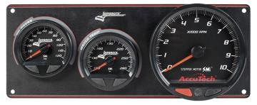 "Longacre Waterproof SMI 2 Gauge Panel w/4.5"" Tach - (OP/WT)"
