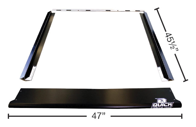 Quick Rescue Roof - Late Model - Flat Black