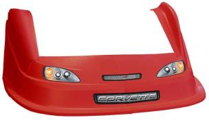 MD3 Evo 1 Nose/Fender/Decal Kit - Flat RF - (Red-Corvette)