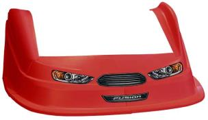 MD3 Evo Nose-Fender-Decal Kit-Flat RH Fender - (Red-Fusion)