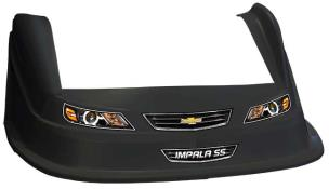 MD3 Evo 1 Nose-Fender-Decal Kit - Flat RF - (Black-Impala)