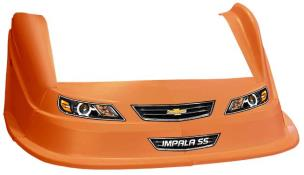 MD3 Evo 1 Nose-Fender-Decal Kit - Flat RF - (Orange-Impala)
