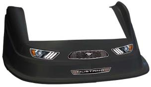 MD3 Evo 1 Nose-Fender-Decal Kit - Flat RF - (Black-Mustang)