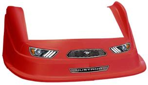 MD3 Evo 1 Nose-Fender-Decal Kit - Flat RF - (Red-Mustang)
