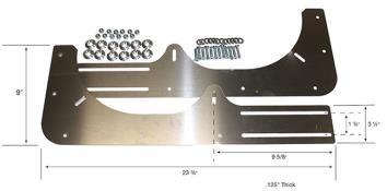 PRP Aluminum Modified Nose Valance Support Kit