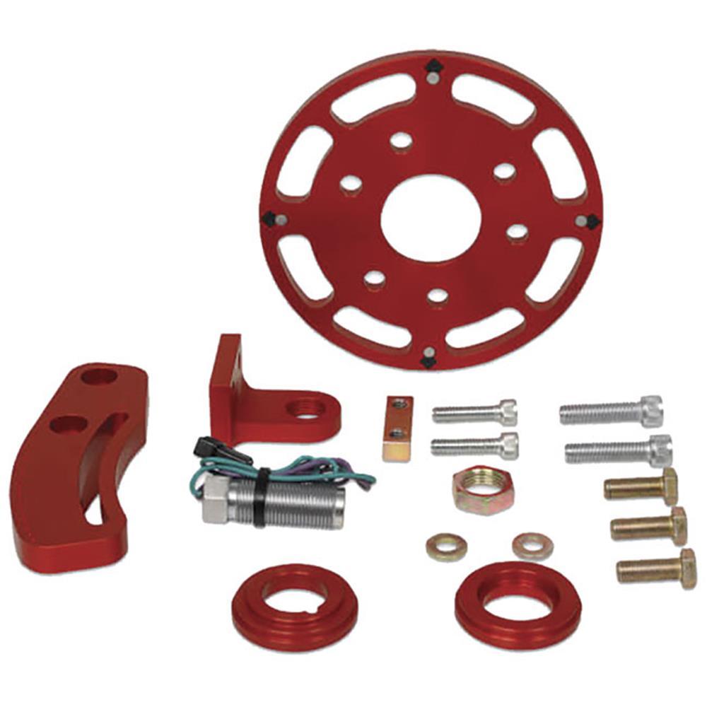 "MSD SBC Red Crank Trigger Kit - (6.25"" Balancer)"