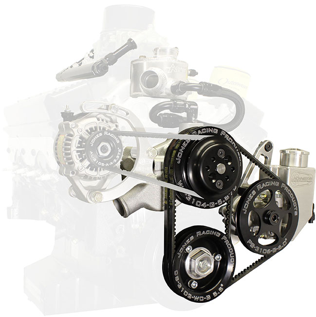 Picture of Jones SBC/Crate V-Belt Water Pump & Power Steering Drive Kit