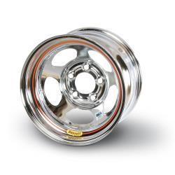 """Bassett Inertia Advantage Chrome Wheel - 5x5 - 2"""" Off - IMCA"""