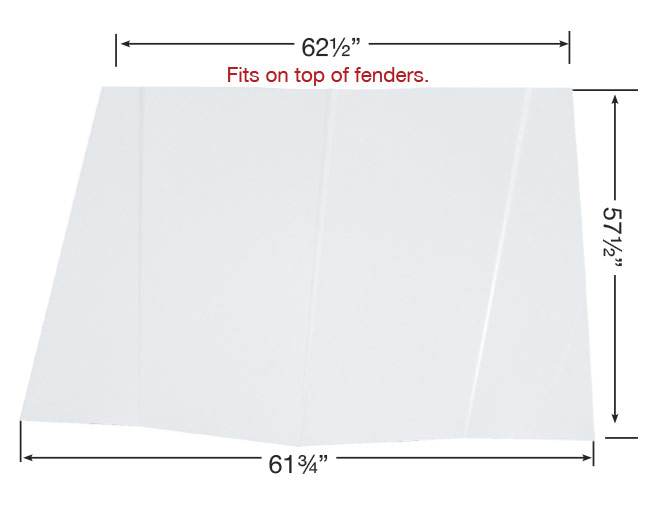 88 Monte Carlo Manufactured Squared Back Hood - (White)