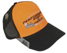 Performance Bodies Hat - Orange w/ Black Mesh