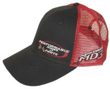 Performance Bodies Hat - Black w/ Red Mesh
