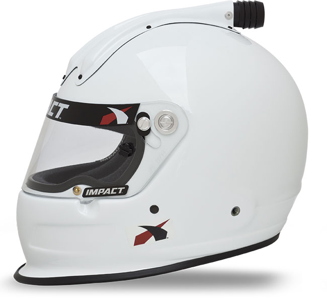 Impact Helmet - Super Charger - Medium - White Snell20