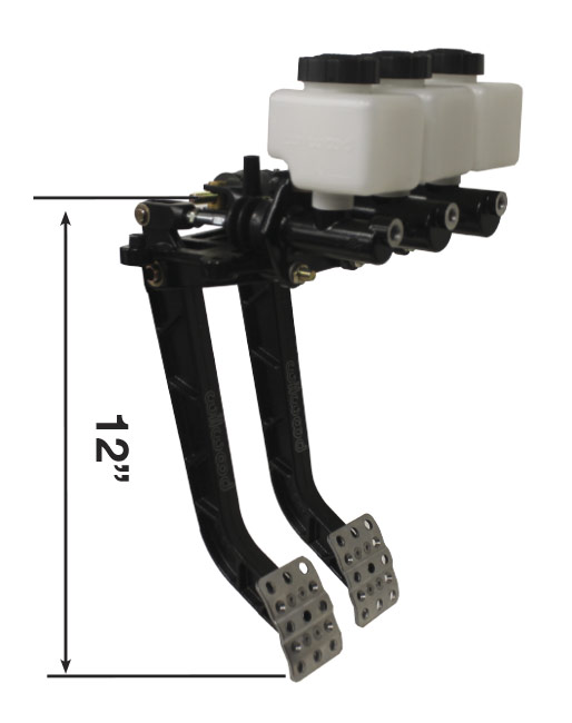 "Picture of Reverse Mount - Dual 12"" Pedal Combo - Compact Master Cylinders"