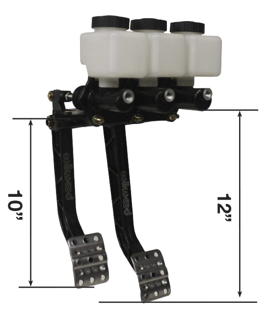 Picture of Reverse Mount - Dual Pedal - Short Clutch Combo w/ Compact Master Cylinders