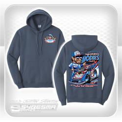 Performance Bodies Hooded Sweatshirt- Large- Steel Blue- LM