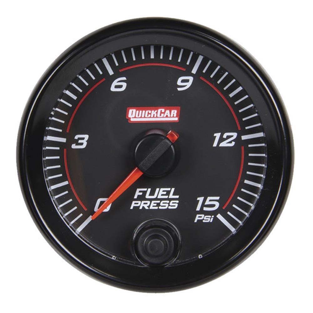 Quickcar Redline Fuel Pressure Gauge (0-15 PSI)