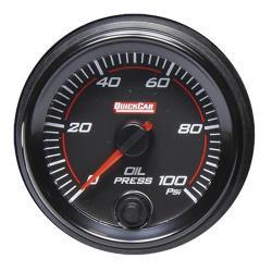 Quickcar Redline Oil Pressure Gauge (0-100 PSI)