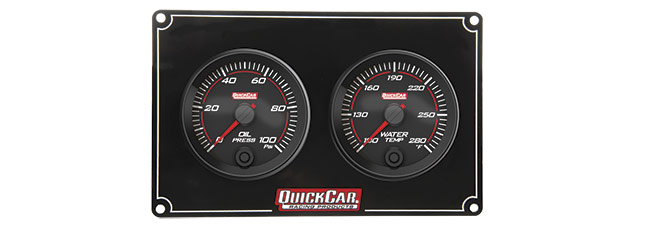 Quickcar Redline 2 Gauge Panel (OP/WT)
