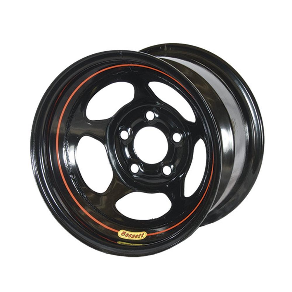 "Bassett Wissota Inertia Adv Armor Edge Black Wheel- 5X5 - 2"""