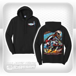 Hooded Sweatshirt - XXL - Black - Stock Car